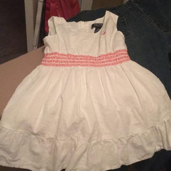 Girls 18 month Nautica white dress worn once! 30329ed25a07